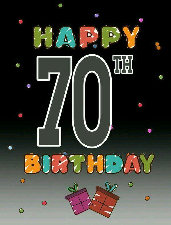 Очень красивая открытка с днем рождения, с семидесятилетием